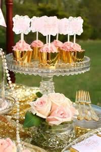 kara s ideas pink gold dessert table for