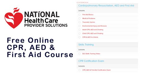 First Aid Cpr Aed Online Bing Images Nsc Cpr Course Certificate Template