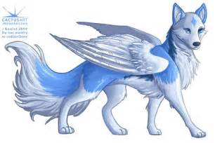 blue wolf food blue wolf with wings moons flying and pups dislikes hateful wolves and