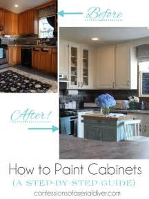 How To Prepare Kitchen Cabinets For Painting How To Paint Kitchen Cabinets A Step By Step Guide Confessions Of A Serial Do It Yourselfer