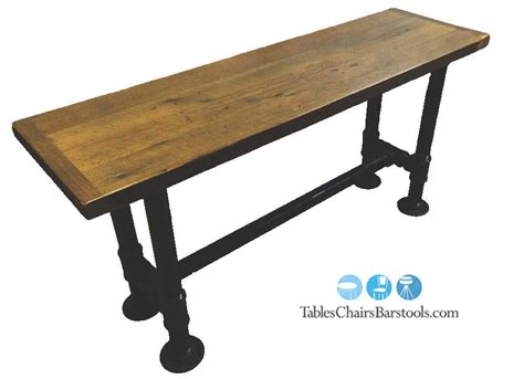commercial table bases 2 quot black iron pipe commercial table base for 30 quot x 48 quot top