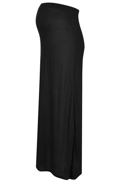 topshop maternity split back maxi skirt in black lyst