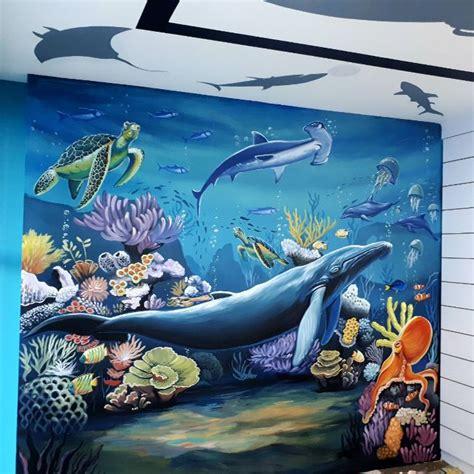 wallpaper dinding laut lukisan dinding dengan berbagai tema untuk dekorasi rumah anda