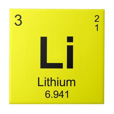 Lithium On Periodic Table periodic table of elements lithium tile zazzle