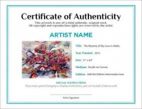 certificate of authenticity photography template documenting the sale of your artwork agora advice