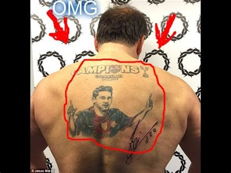 tattoo messi youtube omg lionel messi top unique tatto fans 2017 youtube