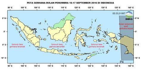 2 Di Indonesia gerhana bulan penumbra 16 17 september 2016 terlihat di indonesia simomot