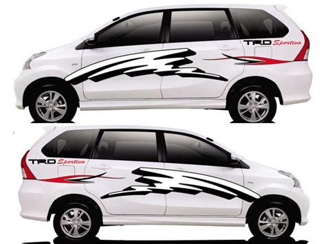 Jual Lu Variasi Avanza design sticker mobil custom sticker