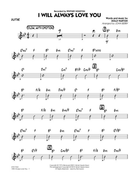 swing 42 sheet i will always you guitar sheet by