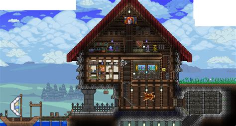 Skyrim Home Decorating Guide Grand House By The Lake Terraria