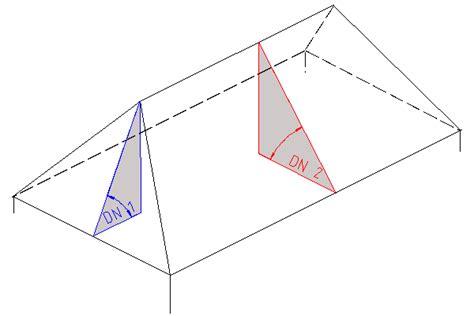 Walmdach Volumen Berechnen by Walmdach Ungleicher Dachneigung Dachfl 228 Chenberechnung