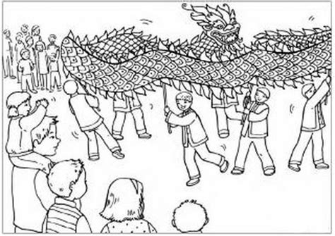 dragon dance coloring page free coloring pages of chinese lion dance
