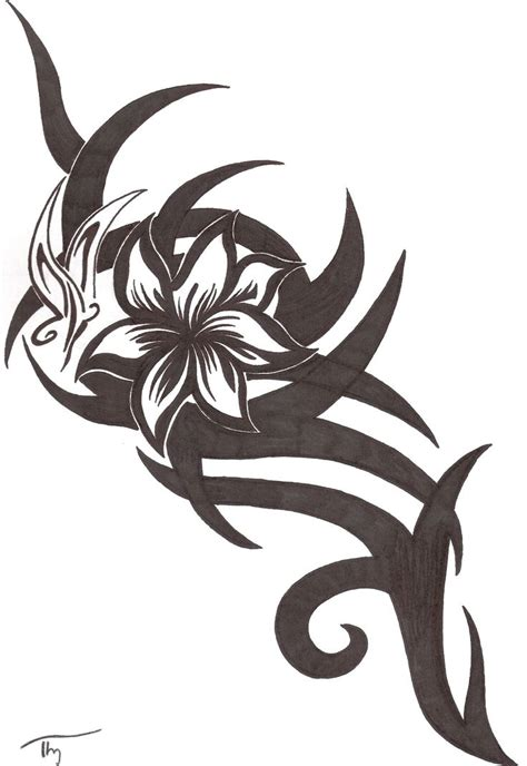 tribal and flower design tattoos 17 best ideas about tribal flower tattoos on