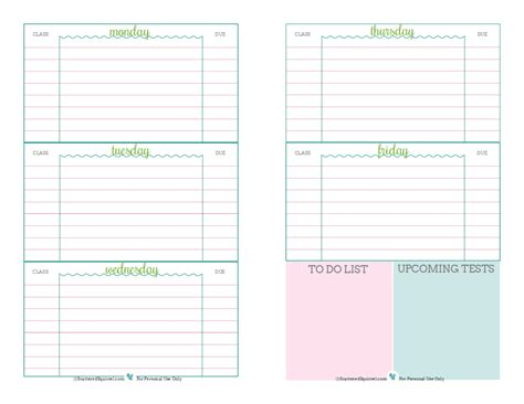 Student Planner Printables Scattered Squirrel Middle School Student Planner Template