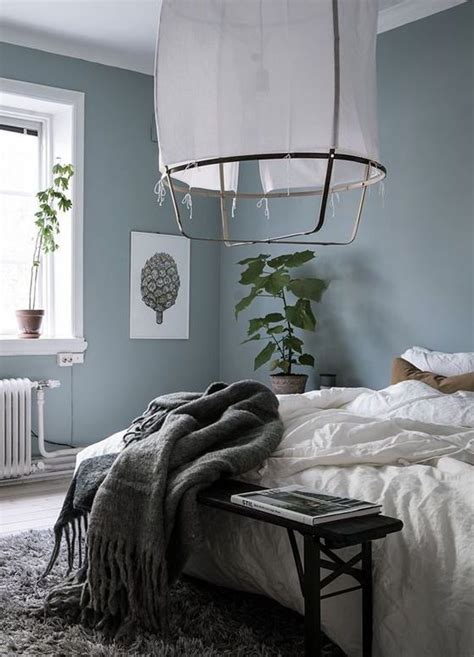 schlafzimmer blau grau blue grey bedroom via coco lapine design b e d r o o m