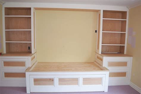 Bedroom Furniture Bookcase Headboard Custom Built In Trundle Bed Chatham Nj Monk S