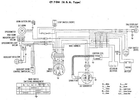 1978 honda ct70 wiring diagram wiring diagrams repair