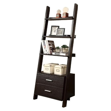 Ladder Bookcase With Drawers Everyroom Target Ladder Bookcase Target