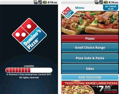 domino pizza app the new drive thru 9 fast food apps reviewed
