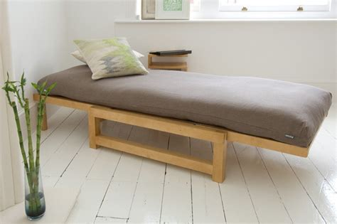 Using Futon As Bed by Linear Single Seater Sofa Bed Solid Birch