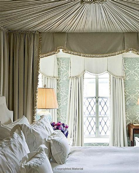 Bedroom Window Canopy The Wallpaper Window Treatments Bed Draperies And