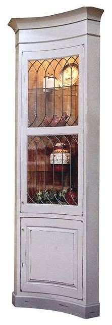 Kitchen Corner Display Cabinet Leaded Glass Corner Display Cabinet 4 500 Est Retail 2 000 On Chairi