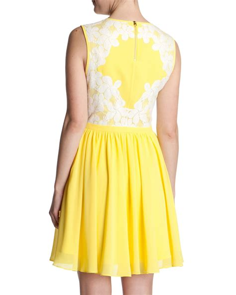 Dress Yellow Scuba ted baker yellow scuba dress dress fric ideas