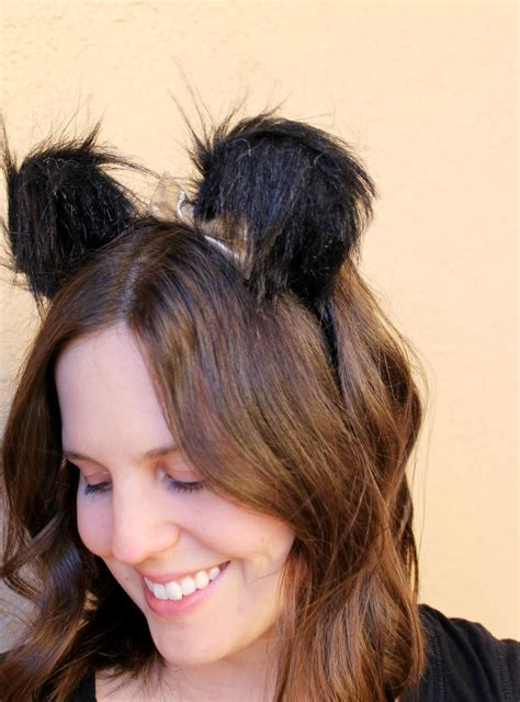 diy halloween costume ideas bear cat ears hairstyle diy bear ears headband for halloween child at heart blog