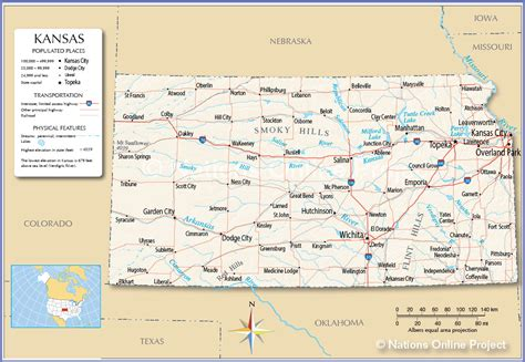 kansas state map usa map kansas state
