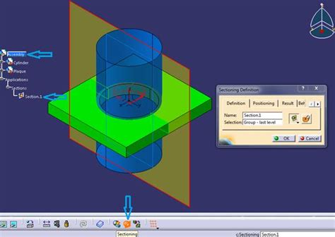 catia section view export a section in catia v5 from assembly module