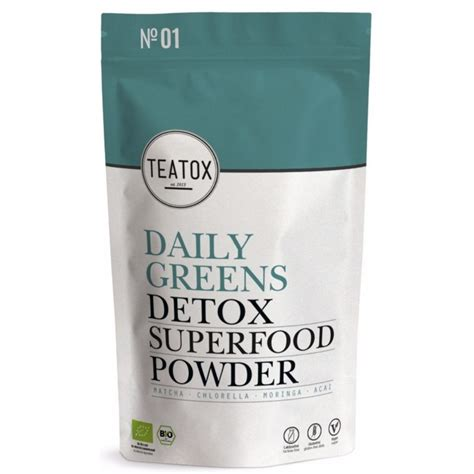 Superfood Mix Green Detox by Teatox Daily Greens Detox Superfood Powder 120 Gr Us