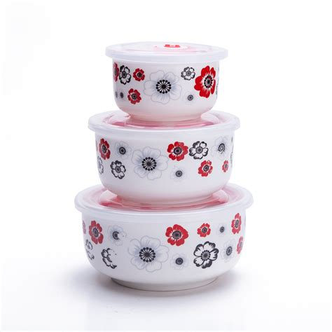 Set Of 3 Food Container set of 3 ceramic lunch bento boxes food carrier food