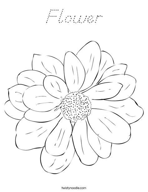 D Nealian Coloring Pages by Flower Coloring Page D Nealian Twisty Noodle