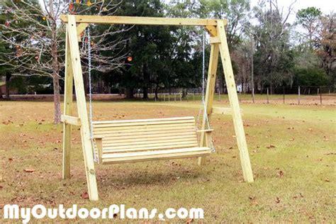 diy wood  frame swing myoutdoorplans  woodworking