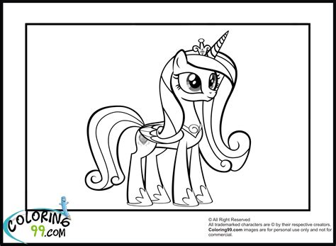 Princess Cadence Coloring Pages Team Colors My Pony Princess Cadence Coloring Pages