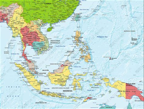 east asia political map digital map south east asia political 1305 the world of