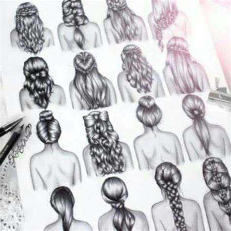 cool hairstyles drawing beautiful sketches of girls with love quotes quotesgram