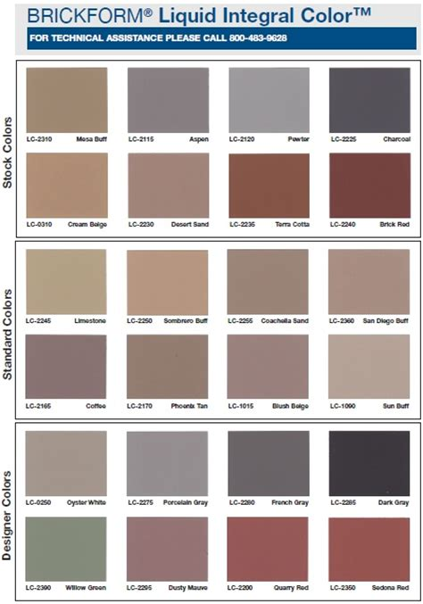 brickform color chart pin by tonya dean moseley on home