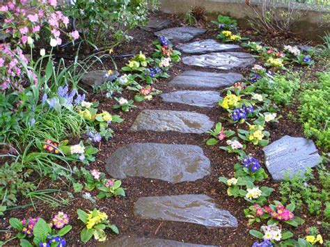 stone garden with mulch google search gardens and