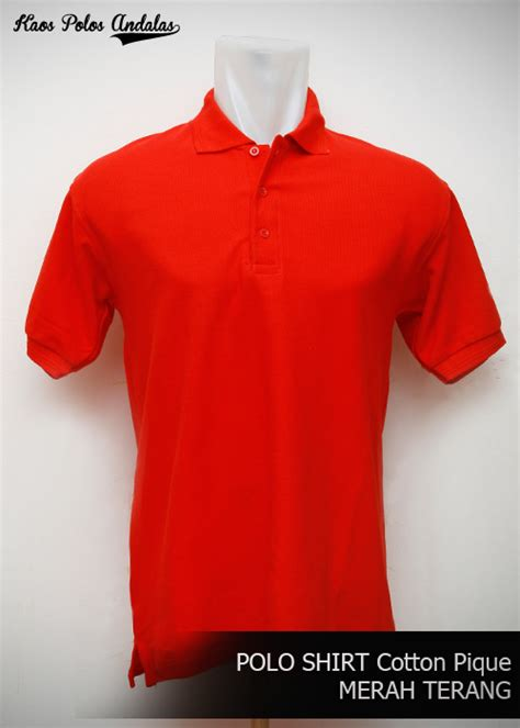 Kaos Polo polo shirt polos bahan cotton pique siap bordir grosir