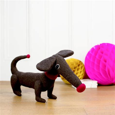 handmade and personalised soft toy dachshund cdbdi
