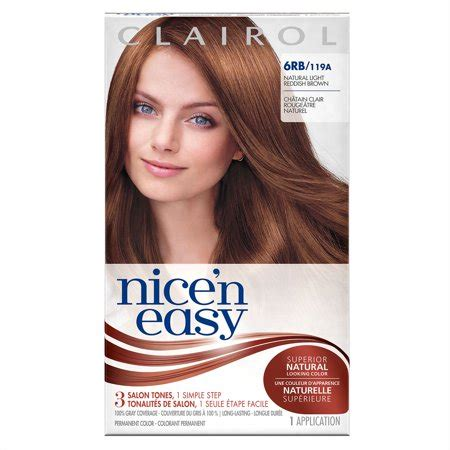 6rb hair color clairol n easy permanent hair color 6rb 119a