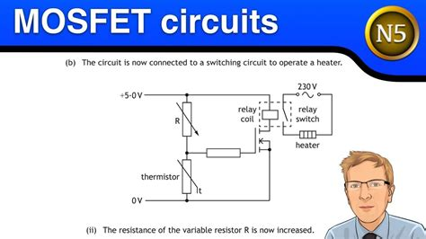national 5 physics brightred national 5 physics mosfet switching circuits youtube
