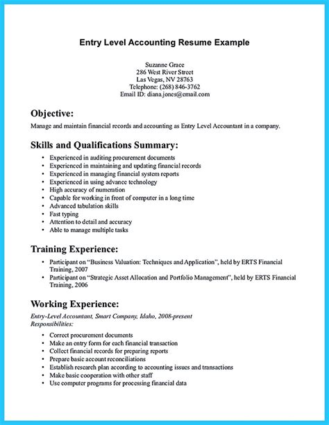 resume exles accounting sle for writing an accounting resume