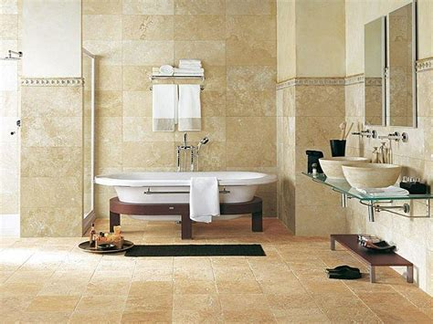 Travertine bathroom: noble chic and authenticity of