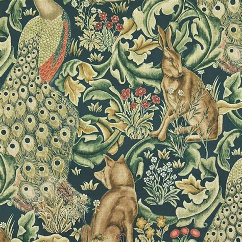 william morris archive ii forest tapestry velvet