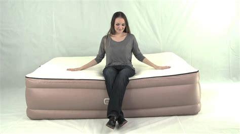 queen air bed memory foam topper built  pump