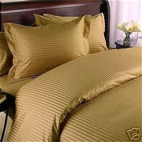 gold down comforter com stripes gold 600 thread count queen size 8pc