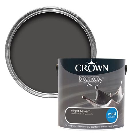 Crown Breatheasy Night Fever Matt Emulsion Paint 2.5L