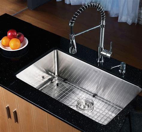 kraus khu10030 30 inch undermount single bowl kitchen sink